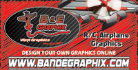 Custom RC Airplane Graphics at BandEGraphix.com