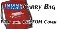 Get a free bag with every custom cover.